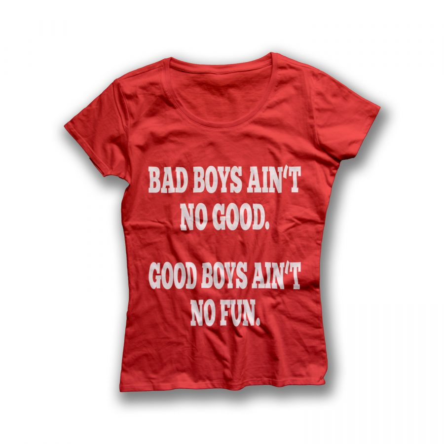 BAD BOYS AIN'T NO GOOD. GOOD BOYS AIN'T NO FUN.